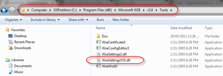 Enable Web Services Enhancements (WSE) 3 0 in Visual Studio