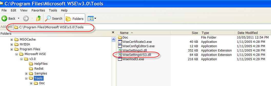 Enable Web Services Enhancements (WSE) 3 0 in Visual Studio 2012