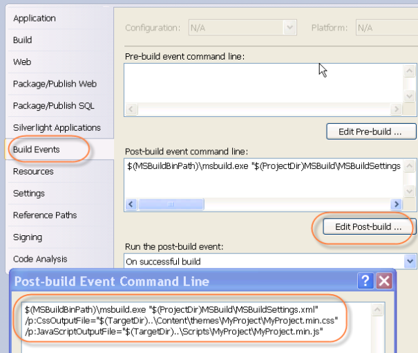 VS2010 Build Events