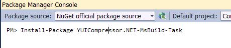 YUICompressor .NET (MsBuild Task)