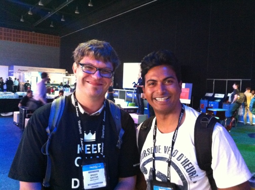 Brady Gaster and Diganta Kumar at TechEd 2013