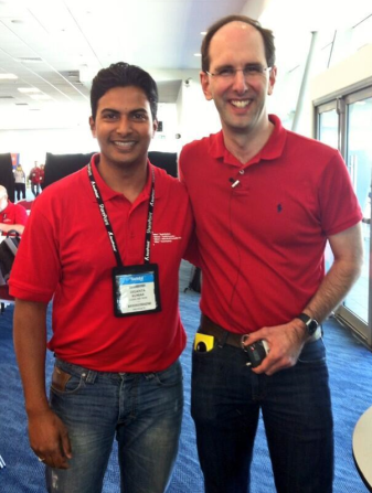 Diganta Kumar and Scott Guthrie at TechEd2013