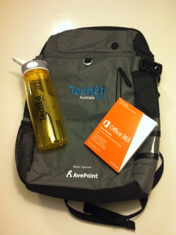 TechEd 2013 Bag, Bottle & Office365